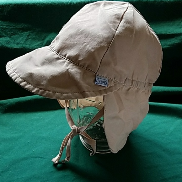 9ceeb79dd Tan Flap Sun Protection Baby Hat | UPF 50+ 6-18mth